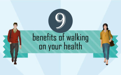 9 benefits of walking on your health (Infographic)
