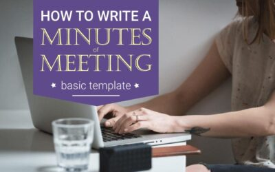How to write an effective minutes of meeting? Basic Template