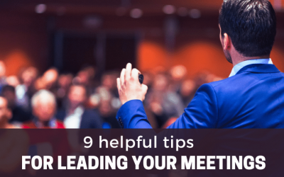9 helpful tips for leading your meetings