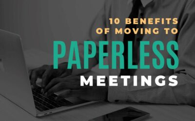 10 Benefits of moving to paperless meetings