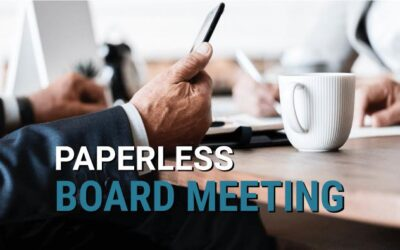 How to plan a paperless board meeting