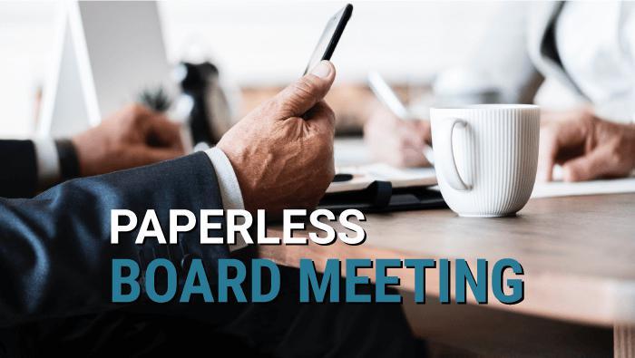 paperless board meeting