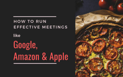 How to run effective meetings like Google, Amazon & Apple?