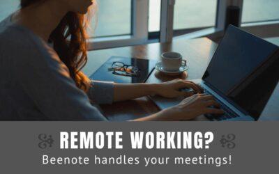 Remote working because of coronavirus? Beenote handles your meetings!