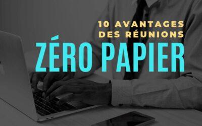 10 avantages de tenir une réunion zéro papier