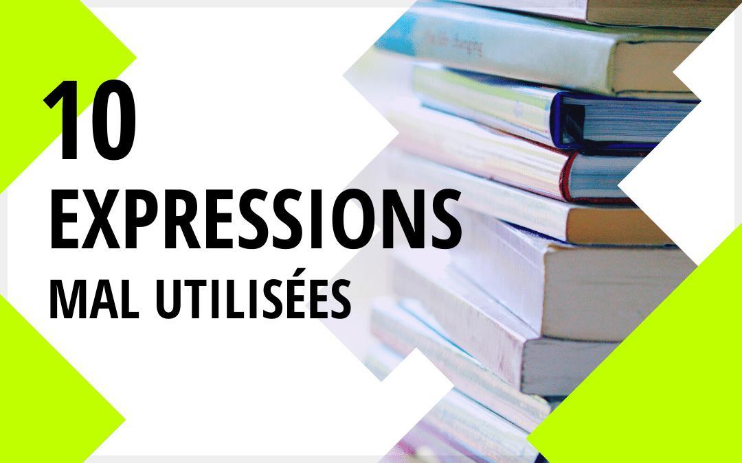 10 expressions mal utilisées réunions livres