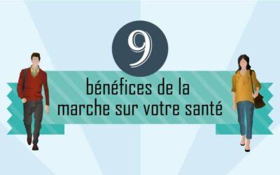 9 bénéfices de la marche sur votre santé (Infographic)