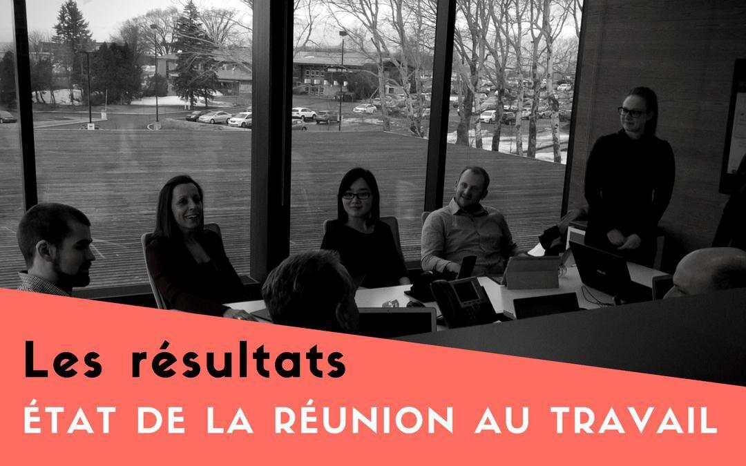 État de la réunion au travail – Les résultats