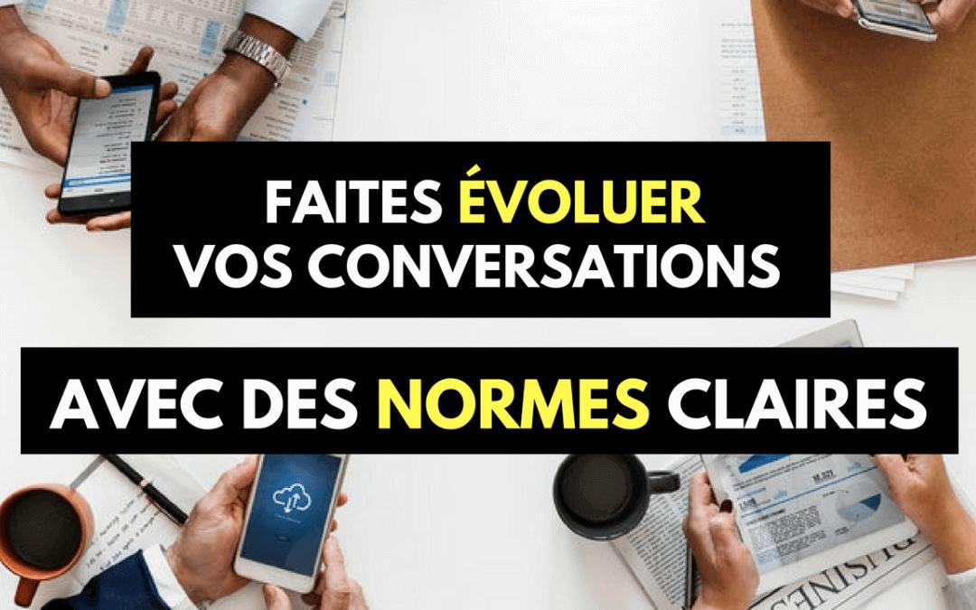 évoluer conversation reunions normes