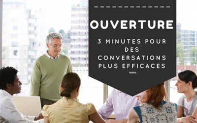 Ouverture de réunion: 3 minutes pour des conversations plus efficaces
